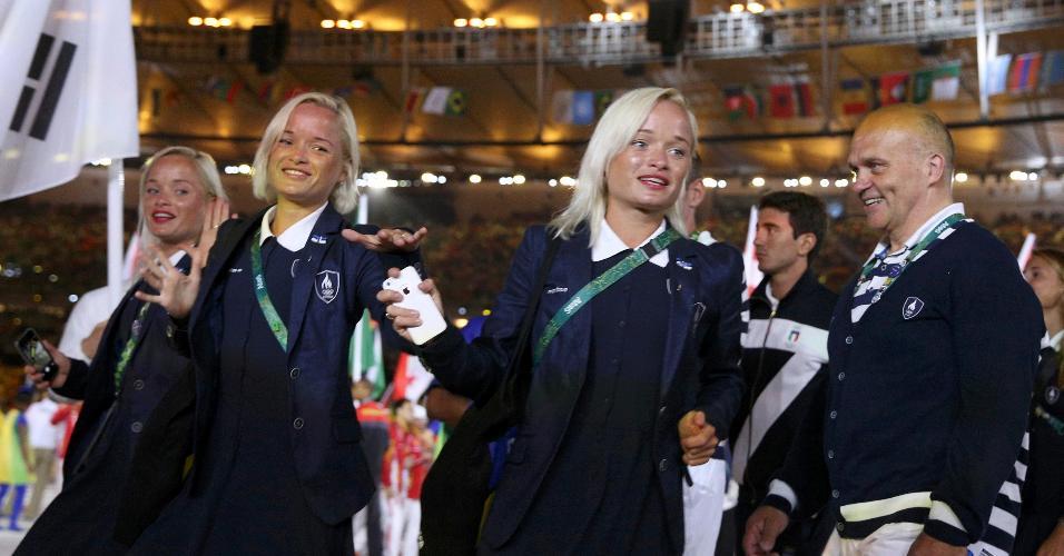 Leila, Liina e Lily Luik, da Estônia, escreveram no Rio um novo capítulo da história ao se tornarem as primeiras trigêmeas a competirem em uma mesma edição dos Jogos Olímpicos