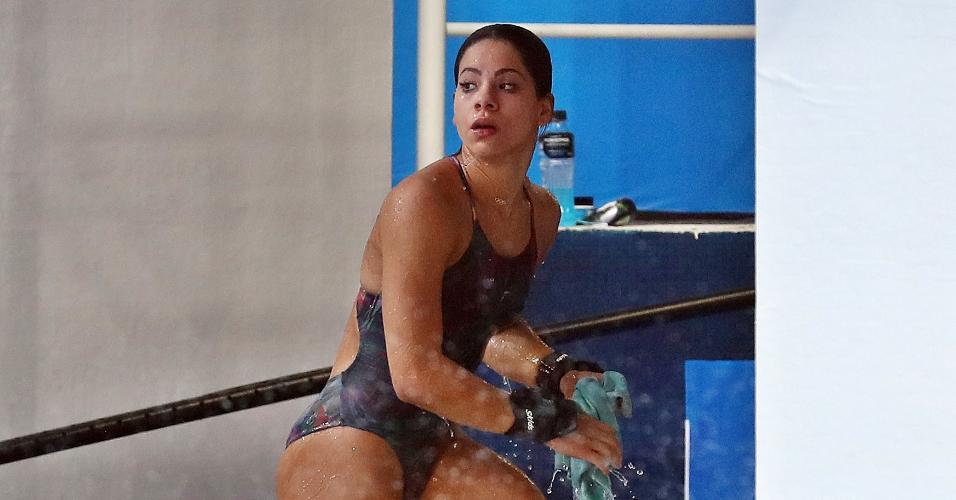 Ingrid Oliveira em prova da plataforma de 10 m