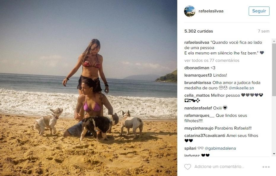 Rafaela Silva e namorada Thamara Cezar 2