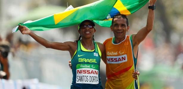 Edneusa de Jesus Santos Dorta levou o bronze na maratona feminina para cegos