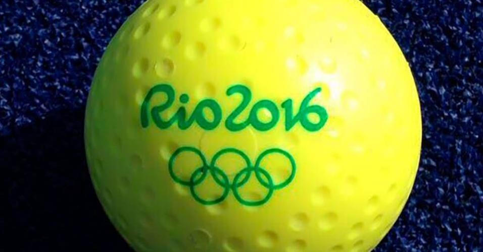 Bola que será usada nas partidas de hóquei na grama na Rio-2016 8da72d32ea5f2