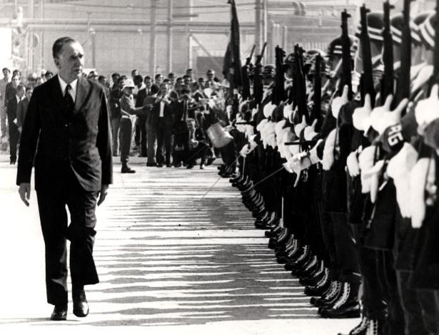 O ditador Médici governou o país de 1969 a 1974