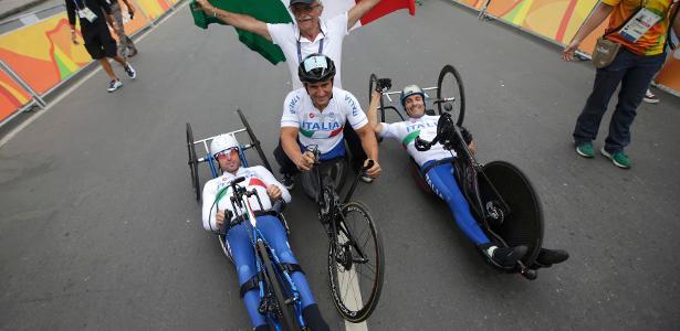 Itália termina com ouro no revezamento do ciclismo de estrada