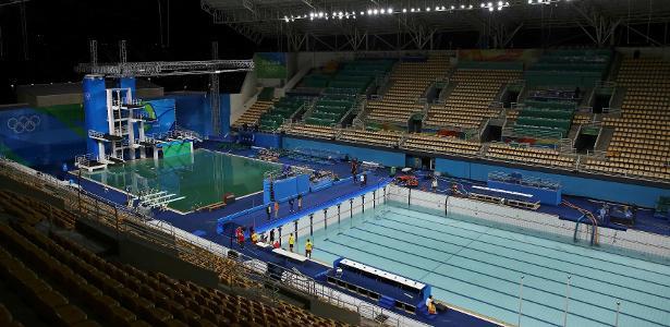 Piscina do polo aqu tico tem gua trocada tanque dos - Agua de piscina verde ...