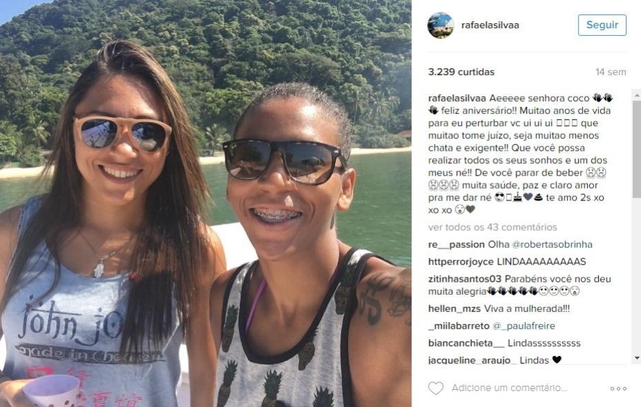 Rafaela Silva e namorada Thamara Cezar