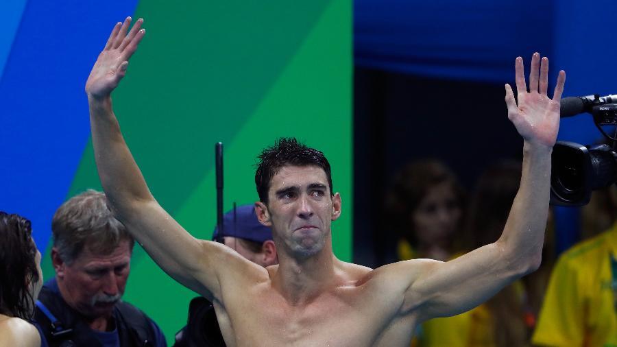 Michael Phelps chora após última prova na Rio-2016 - Clive Rose/Getty Images