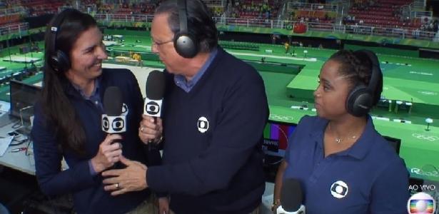 Glenda e Galvão, as principais vozes da Globo na cobertura dos Jogos Olímpicos Rio 2016 - Reprodução/Internet