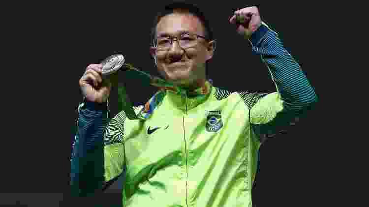 Felipe Wu e sua medalha de prata - Sam Greenwood/Getty Images - Sam Greenwood/Getty Images