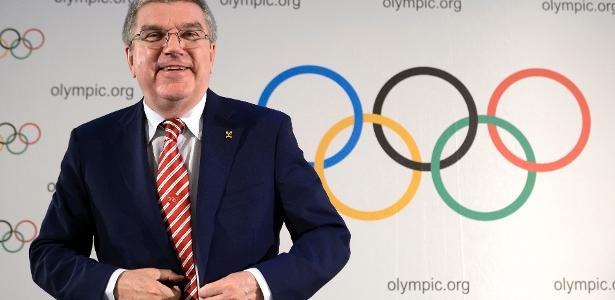 Thomas Bach, presidente do Comitê Olímpico Internacional - AFP PHOTO/FABRICE COFFRINI