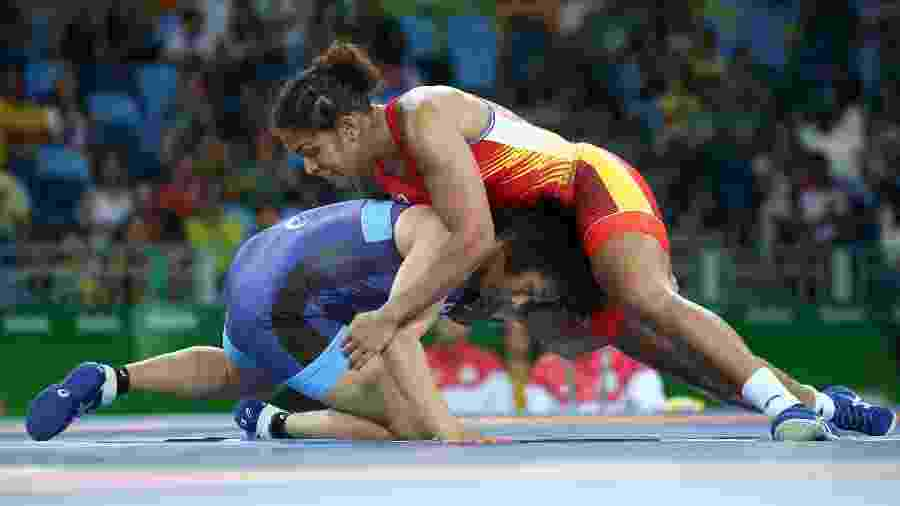 Aline da Silva Ferreira disputa estilo livre da luta olímpica na Rio-20 - REUTERS/Toru Hanai