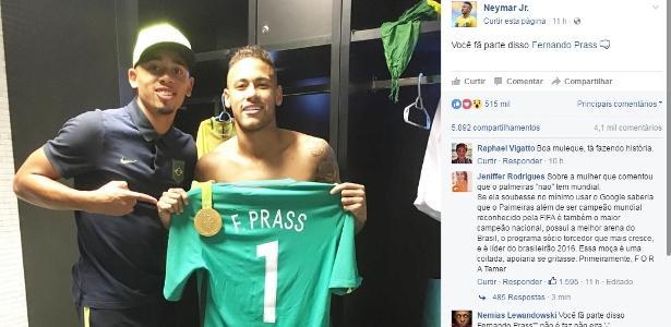 Jesus conheceu Neymar na Olimpíada e aprovou o comportamento do companheiro