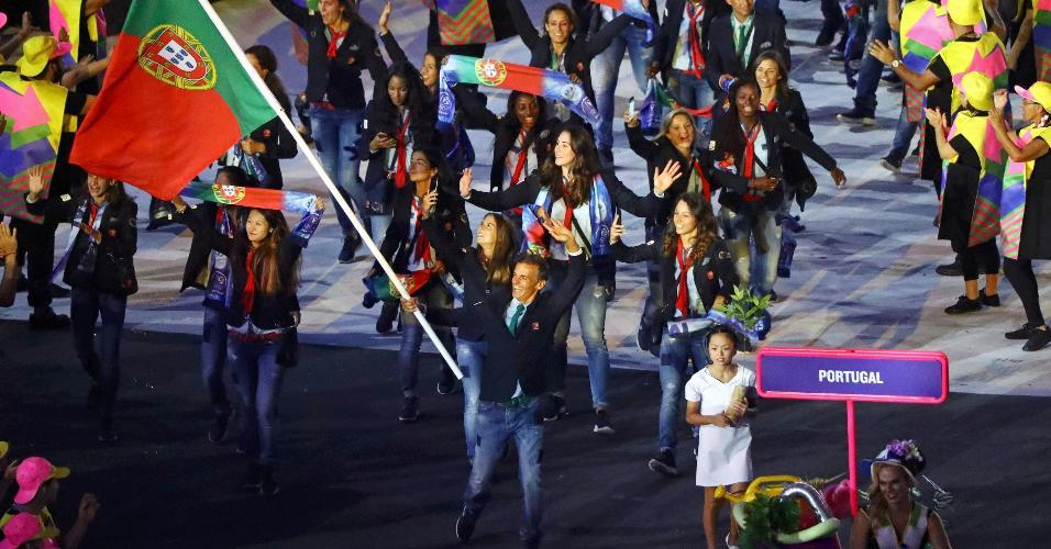 A delegação portuguesa foi uma das mais celebradas pelo público brasileiro