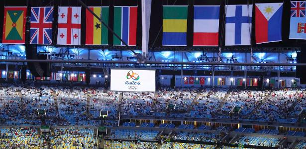 Visão do Maracanã na cerimônia de abertura dos Jogos Olímpicos Rio 2016 - REUTERS/Fabrizio Bensch