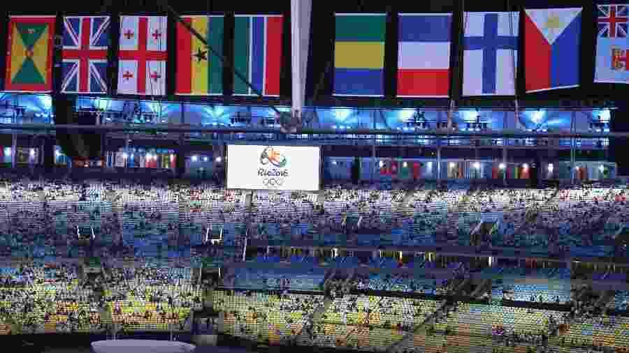 Visão geral do estádio do Maracanã para a cerimônia de abertura dos Jogos Olímpicos Rio 2016 - REUTERS/Fabrizio Bensch