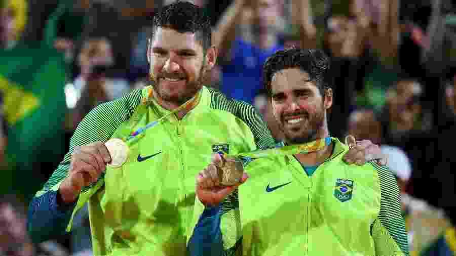 Bruno e Alison conquistaram o ouro na Rio-16 - Murad Sezer/Reuters