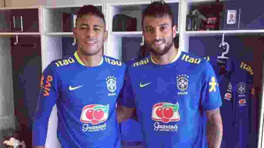 Felipe Anderson e Neymar - Arquivo Pessoal