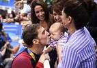 """Após 23 ouros olímpicos, Phelps diz: """"Quero agora a medalha de melhor pai"""" - Martin Bureau/AFP"""
