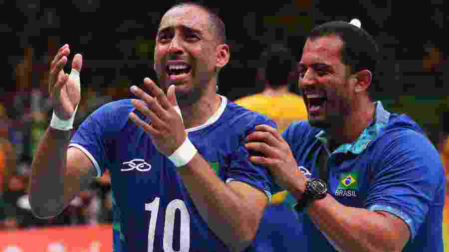 Serginho comemora seu segundo ouro olímpico no vôlei - Getty Images