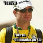 Internautas brincaram com Rubens Barrichello no dia do encerramento das Olimpíadas do Rio - Reprodução/Twitter