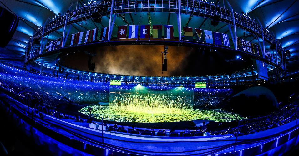 Imagem do Maracanã durante a cerimônia