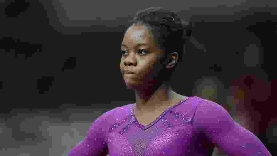 Gabby Douglas durante seletiva americana de ginástica para os Jogos de 2016 - Ronald Martinez/Getty Images
