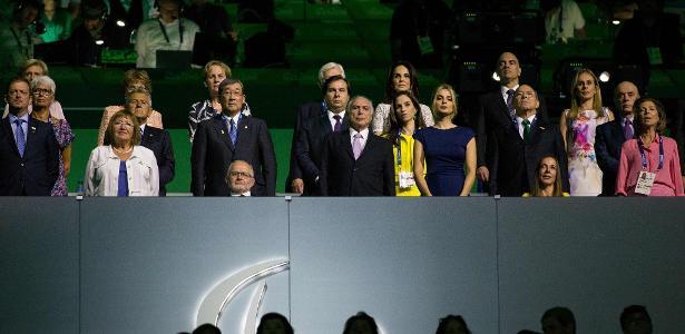 Presidente Michel Temer acompanha cerimônia de abertura dos Jogos Paraolímpicos