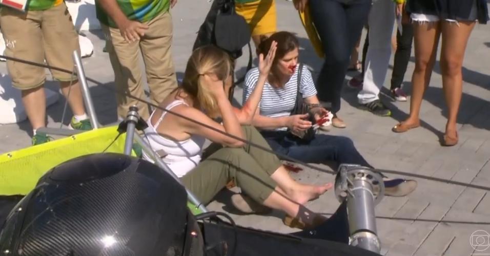 Câmera cai dentro do parque olímpico