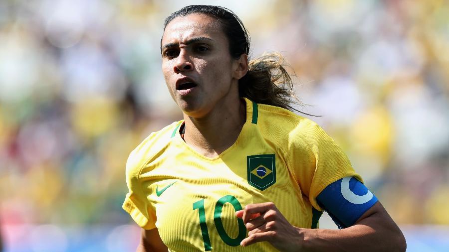 Alexandre Schneider Getty. Marta em ação pela seleção brasileira na Arena  Corinthians ... 701fce741850a