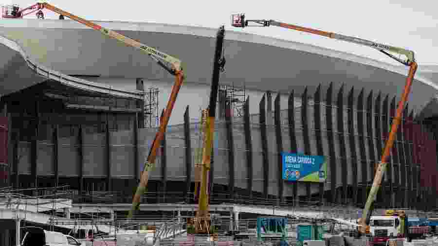 Arena Carioca 2, no Parque Olímpico da Barra da Tijuca - YASUYOSHI CHIBA/AFP