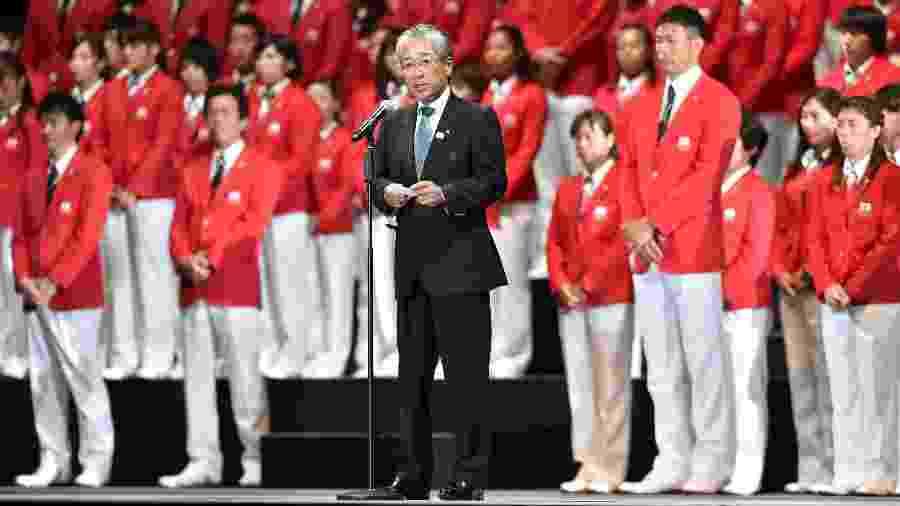 Ex-chefe do comitê de candidatura de Tóquio, Tsunekazu Takeda; renúncia em 2019 - Atsushi Tomura/Getty Images