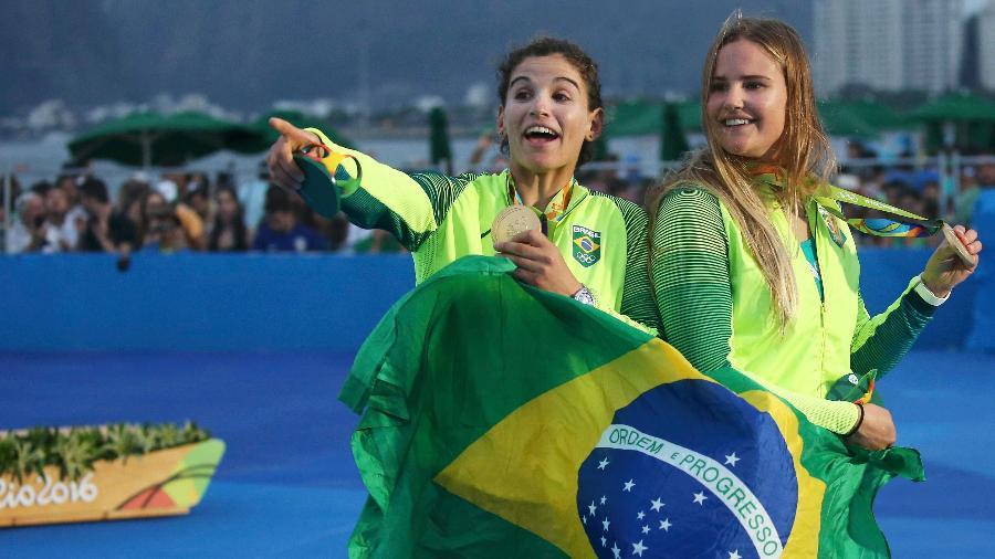 Martine Grael e Kahena Kunze foram campeãs olímpicas da vela na Rio-2016 - REUTERS/Benoit Tessier