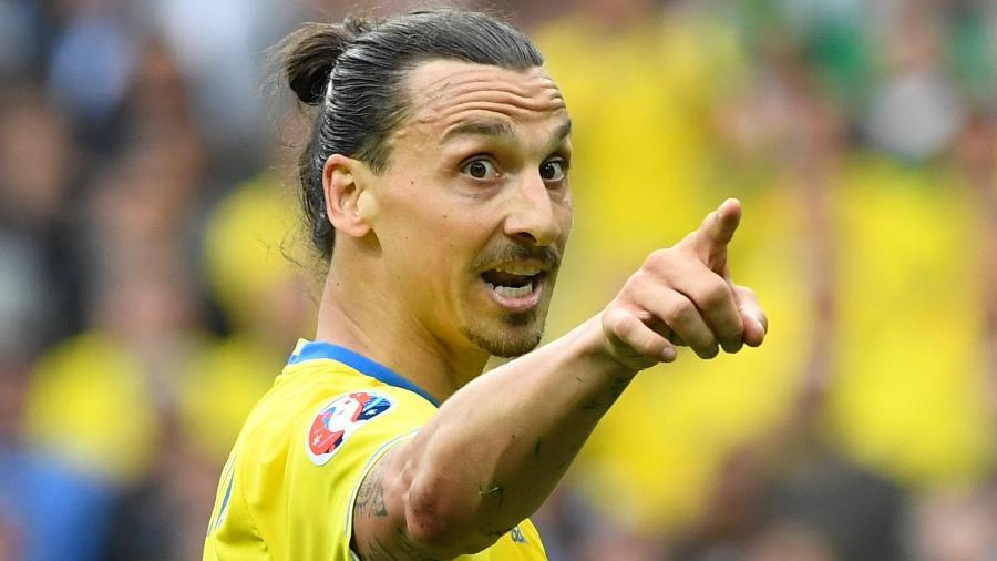 Ibrahimovic pela seleção da Suécia - AFP