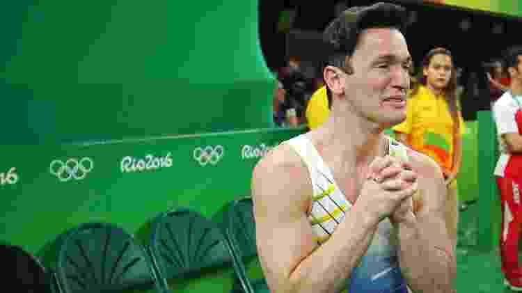 Diego Hypolito se emociona após levar medalha de prata - Mike Blake/Reuters - Mike Blake/Reuters