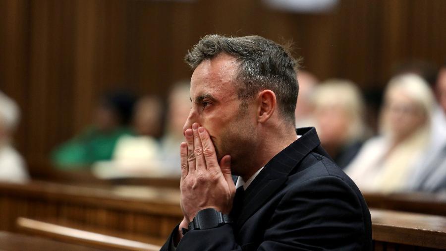 Oscar Pistorius acompanha julgamento em tribunal em Pretoria - Alon Skuy/Reuters