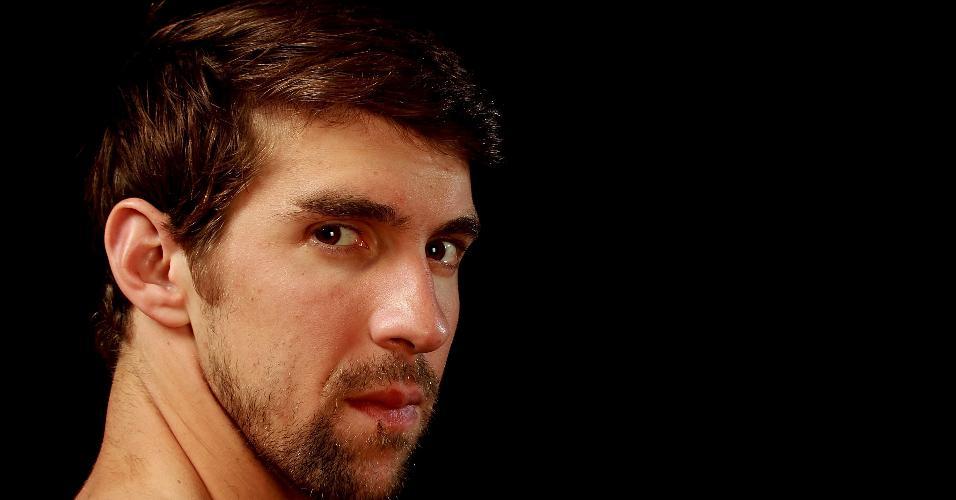 Michael Phelps posa para foto durante evento do Team USA em 2012