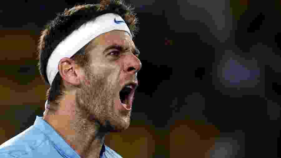 Tudo igual! Del Potro fecha game diante de Andy Murray - REUTERS/Marcos Brindicci