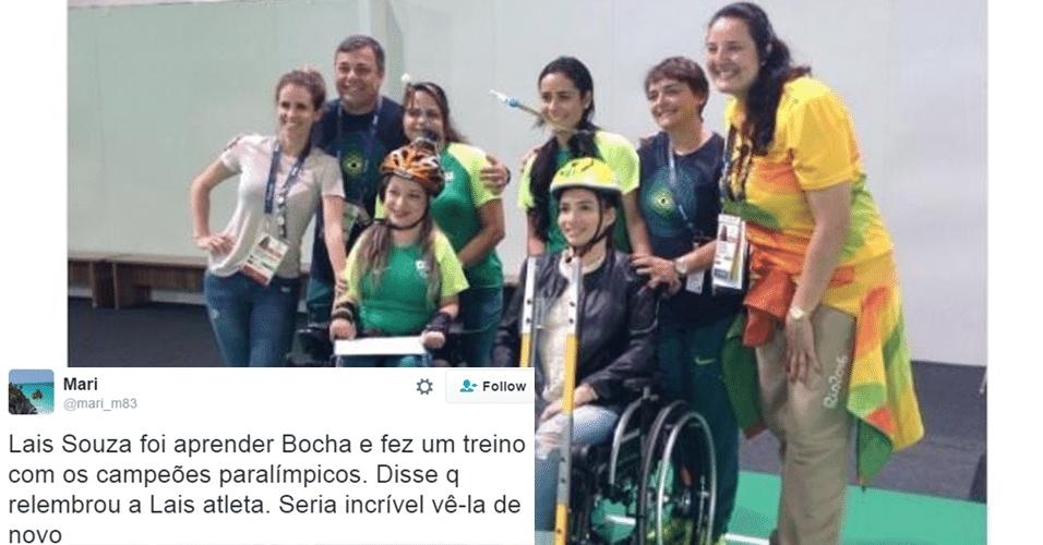 Exemplos como o de Zanardi podem inspirar Laís Souza a recomeçar no esporte. Ela já experimentou a bocha paraolímpica. Quem sabe em 2020?