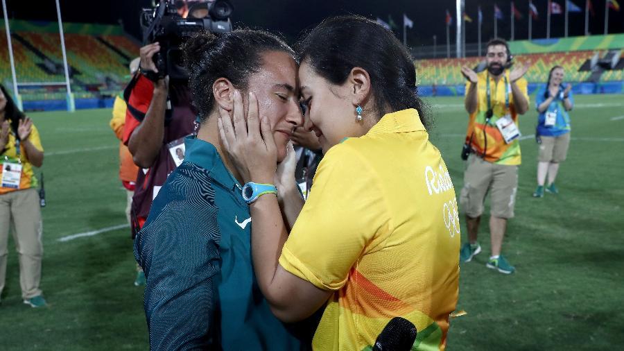 Izzy Cerullo, da seleção brasileira de rugby feminino, foi pedida em casamento por Marjorie Enya, em 2016 - David Rogers/Getty Images