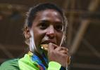 Também lesionada, Rafaela Silva troca mensagens com Neymar - David Ramos/Getty Images