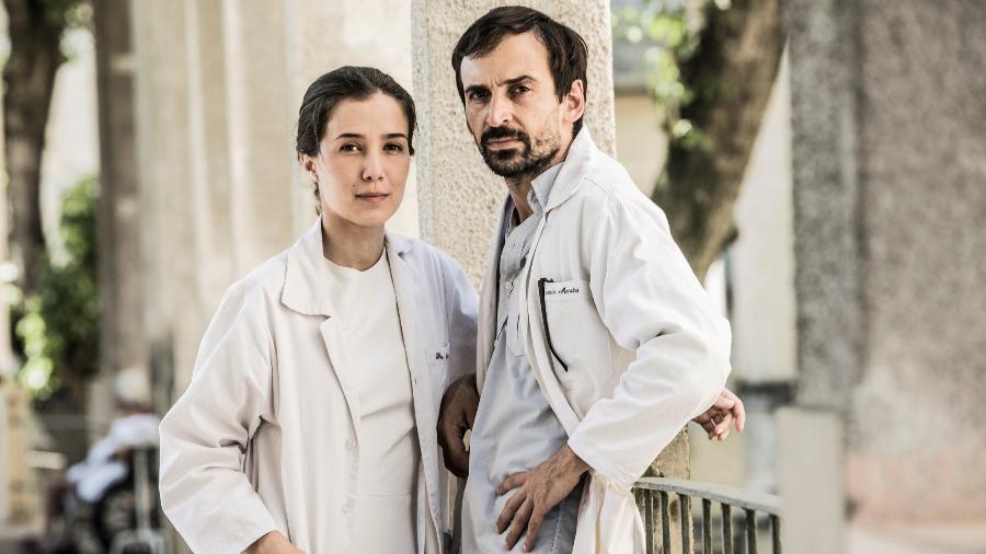 """Marjorie Estiano e Júlio Andrade, protagonistas de """"Sob Pressão"""" - Divulgação"""