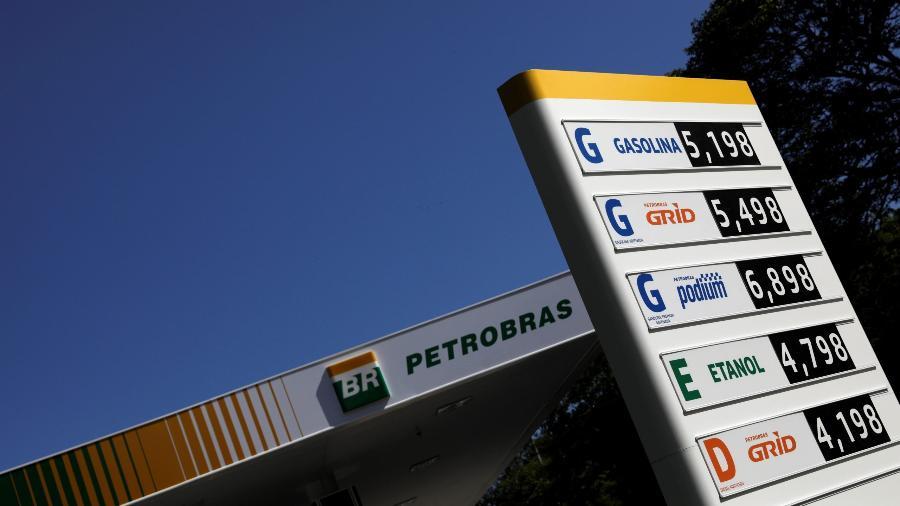 Preços de combustíveis em posto da BR Distribuidora - Ricardo Moraes/Reuters