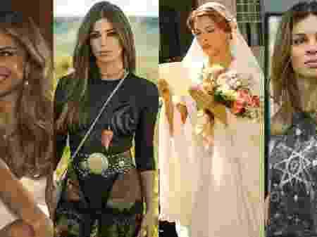 Personagens da atriz Grazi Massafera (Fotos: Divulgação e Internet)