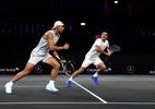 Federer e Nadal treinam juntos na Laver Cup; assista - (Sem crédito)