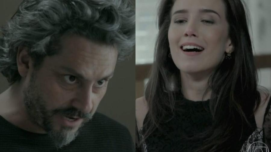 José Alfredo (Alexandre Nero) e Cora (Marjorie Estiano) de Império (Reprodução - TV Globo) - Reprodução / Internet