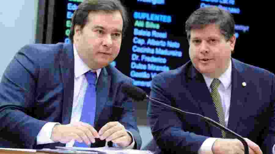 Foi a pedido do presidente da Câmara, Rodrigo Maia (à esquerda), que deputado Baleia Rossi apresentou o projeto de reforma tributária - Cleia Viana/Ag. Câmara