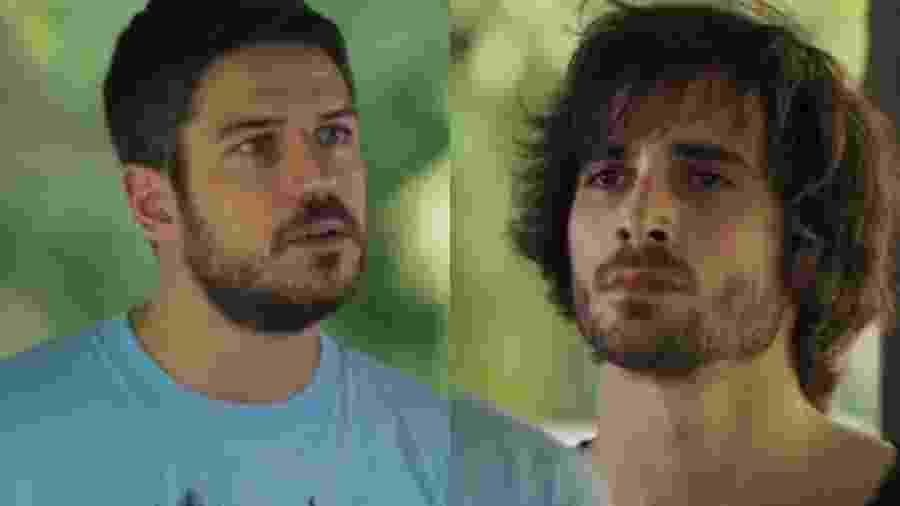 Zeca (Marco Pigossi) e Ruy (Fiuk) de A Força do Querer (Reprodução - TV Globo) - Reprodução / Internet