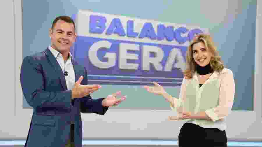 Tino Jr. e Mylena Ciribelli no Balanço Geral Rio: Record criou quadro em jornal local para apresentadora não ficar sem função em TV - Reprodução / Internet