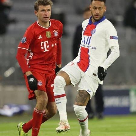Neymar em ação contra o Bayern de Munique - GettyImages