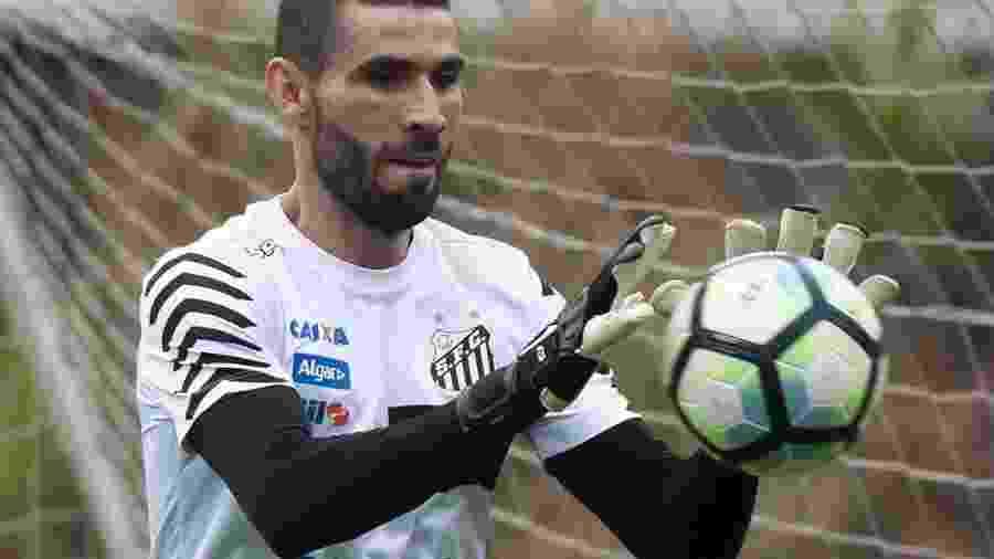Matheus Bacchi, filho de Tite, esteve na Ilha do Urubu, principalmente, para ver Vanderlei - Ivan Storti/ Santos FC
