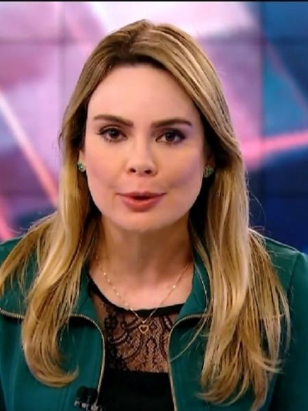 """Rachel Sheherazade quando era apresentadora do """"SBT Brasil"""" - Reprodução / Internet"""